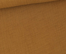 Bambus-Musselin - Double Gauze - Uni - Hellbraun