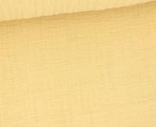 Bambus-Musselin - Double Gauze - Uni - Gelbbeige