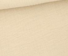Bambus-Musselin - Double Gauze - Uni - Beige