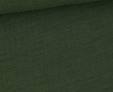 Bambus-Musselin - Double Gauze - Uni - Dunkelgrün