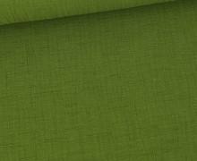 Bambus-Musselin - Double Gauze - Uni - Maigrün