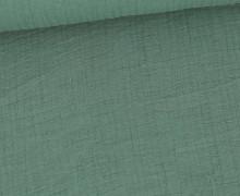 Bambus-Musselin - Double Gauze - Uni - Altgrün
