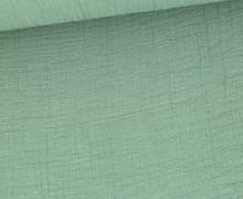 Bambus-Musselin - Double Gauze - Uni - Lichtgrün