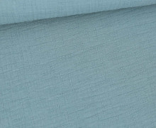 Bambus-Musselin - Double Gauze - Uni - Pastelltürkis
