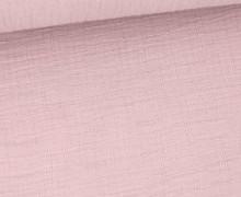 Bambus-Musselin - Double Gauze - Uni - Altflieder