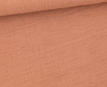 Bambus-Musselin - Double Gauze - Uni - Beigeorange