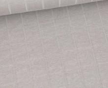 Leichter Hydrofil Jersey - Weich - Uni - Musselin Optik - Grau