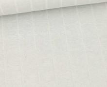 Leichter Hydrofil Jersey - Weich - Uni - Musselin Optik - Hellgrau