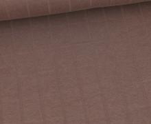 Leichter Hydrofil Jersey - Weich - Uni - Musselin Optik - Braun