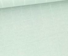 Leichter Hydrofil Jersey - Weich - Uni - Musselin Optik - Lichtgrün Hell