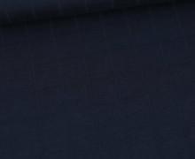 Leichter Hydrofil Jersey - Weich - Uni - Musselin Optik - Stahlblau