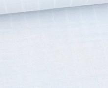 Leichter Hydrofil Jersey - Weich - Uni - Musselin Optik - Pastellblau