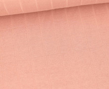 Leichter Hydrofil Jersey - Weich - Uni - Musselin Optik - Altrosa