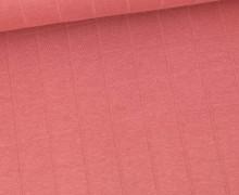 Leichter Hydrofil Jersey - Weich - Uni - Musselin Optik - Altrose