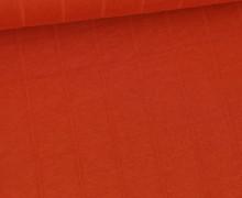 Leichter Hydrofil Jersey - Weich - Uni - Musselin Optik - Orange Dunkel
