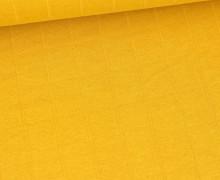Leichter Hydrofil Jersey - Weich - Uni - Musselin Optik - Maisgelb