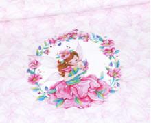 Jersey - MamaFee - Paneel - Bio-Qualität - Weiß - Wildblume Illustration - abby and me