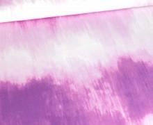 Modal - Jersey - Tie-Dye Love 2.0 - Batik - Streifen - Lila - Paneel - Bio-Qualität - abby and me