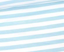 Jersey - Streifen - Gestreift - Weiß/Hellblau