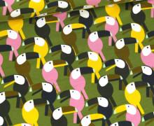 Jersey - Tropical Birds - Farngrün