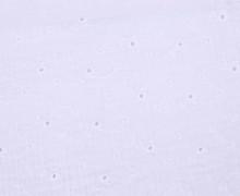 Musselin - Muslin - Double Gauze - Uni - Lochstickerei - Sternenblumen - Weiß