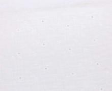Musselin - Muslin - Double Gauze - Uni - Lochstickerei - Sternenblumen - Warmweiß