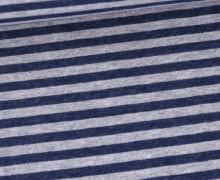 Jersey - Double Face - Jeansoptik - Gestreift - Jeansblau/Grau