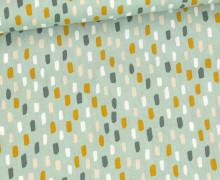 Baumwolle - Webware - Colored Short Stripes - Lichtgrün
