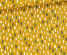 Baumwolle - Webware - Colored Short Stripes - Senfgelb/Grün