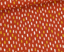Baumwolle - Webware - Colored Short Stripes - Rostorange