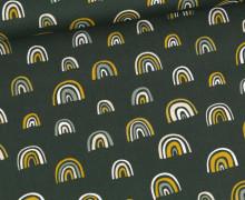 Baumwolle - Webware - Rainbow - Dunkelgrün