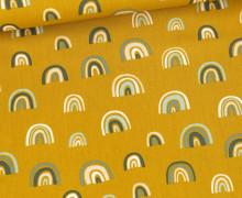 Baumwolle - Webware - Rainbow - Senfgelb/Grün