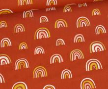 Baumwolle - Webware - Rainbow - Rostorange
