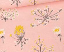 Ottoman Premium - Dekostoff - Blumen-Variationen - Lachsrosa