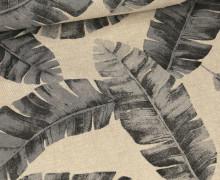 Half Panama Premium - Leinenoptik - Palmenblätter - Beige