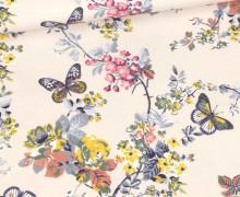 Modal - Jersey - Schmetterlingsgarten - Blassrosa - Bio-Qualität - abby and me
