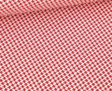 Bio-Elastic Minijacquard Jersey - 3D - Navigator Knit - Ahoy - Hamburger Liebe - Weiß/Rot