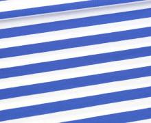 Bio-Single-Jersey - Sailor Stripes - Ahoy - Royalblau/Weiß - Hamburger Liebe