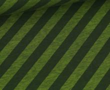 Bio-Jersey - Nautic Stripes - Ahoy - Farngrün Meliert/Dunkelgrün - Hamburger Liebe