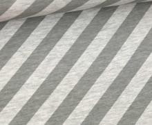 Bio-Jersey - Nautic Stripes - Ahoy - Hellgrau Meliert/Grau - Hamburger Liebe