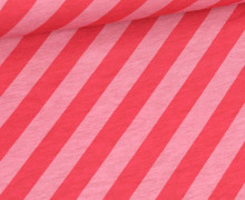 Bio-Jersey - Nautic Stripes - Ahoy - Babyrosa Meliert/Pink - Hamburger Liebe