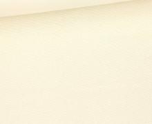 Canvas - feste Baumwolle - 252g - Uni - Warmweiß