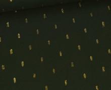 Viskose - Blusenstoff - Goldstriche - Dunkelgrün