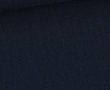 Musselin - Muslin - Uni - Slub Washed - Double Gauze - 115gr - Schnuffeltuch - Windeltuch - Stahlblau