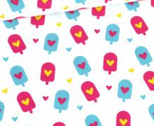 Modal - Jersey - Summer Vibes - Icecream Love - Weiß - Bio-Qualität - abby and me