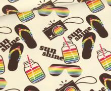 Sommersweat - Summer Vibes - Sunshine - Ecru - Bio Qualität - abby and me