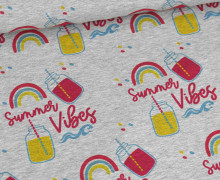 Sommersweat - Summer Vibes - Grau Meliert - abby and me