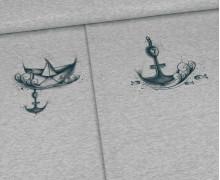 Sommersweat - Hamburg Ahoi - Kids Paneel - Grau Meliert - Make Art Berlin - abby and me
