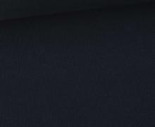 Bündchen Standard - Feine Rippen - Uni - Schwarzblau - #339