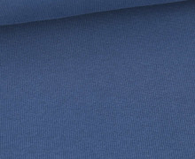 Bündchen Standard - Feine Rippen - Uni - Taubenblau Dunkel - #435